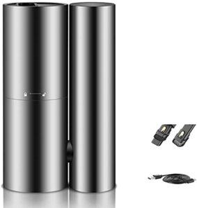 JTN Aspirateur à main sans fil portable avec tête de brosse 2 en 1 et poignée pliable rotative pour voiture, tapis et poils d'animaux, noir
