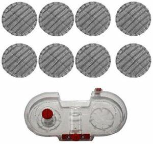 KTZAJO Réservoir d'eau pour aspirateur à balai électrique V7 V8 V10 V11 Pièces remplaçables Aspirateur à main avec 8 chiffons