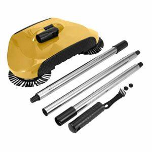 LXRZLS Ordinateur de Poche Sweeper Bundle Sweeper automatiquesMachines Pousser la Main Balai Professionnel Aspirateur Robot Balayer 3in1 Brosse à Plancher (Color : Brown)
