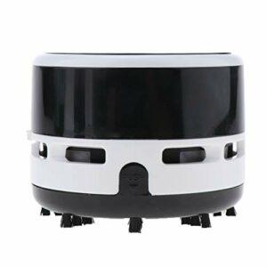 MagiDeal Robot Aspirateur Automatique Mini Aspiration Forte Filtre HEPA Aspirateurs Robotiques pour Chien Animaux de Compagnie Cheveux Surfaces de Plancher de – Noir
