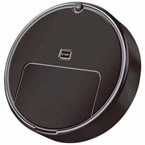 Robot aspirateur balai automatique pour la poussière et le petit morceau de papier noir (couleur : blanc)