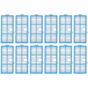 WPLHH Lot de 12 filtres HEPA pour aspirateur robot Goovi 1600PA, IMartine C800 D900 D900C, DeenKee DK600, Bagotte BG600