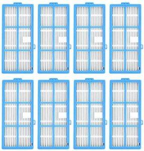 WPLHH Lot de 8 filtres de rechange pour aspirateur robot Coredy R3500 R3500S R550 (R500+) R650 R600 R700