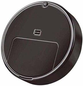 WPLHH Robot aspirateur balai automatique pour tapis et poussière et petit morceau de papier noir (couleur : noir)
