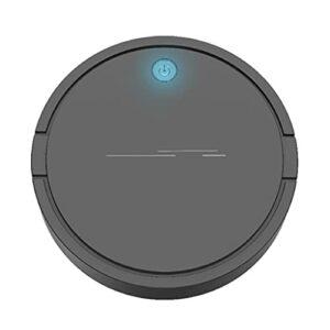 YS&VV Balai de Balayage Automatique Intelligent Aspirateur Robotique,Rechargeable Nettoyage Humide et Sec pour Le Bureau à Domicile Black