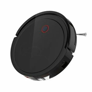 YS&VV Balayeuse Contrôle APP Intelligent Chargement Automatique Aspirateur Robotique,3 en 1 Nettoyage Humide et Sec pour Le Bureau à Domicile Black