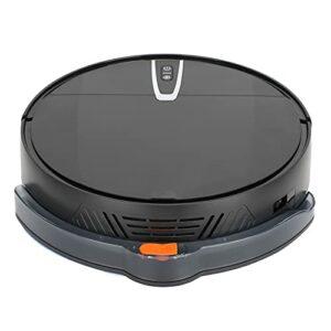 zcyg Robot aspirateur, 2000 Pa Robot aspirateur 600 ml Machine de nettoyage intelligente pour sols Noir