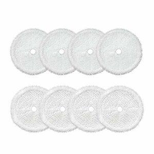 OVBBESS Lot de 8 chiffons de nettoyage pour aspirateur robot 3115, blanc