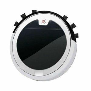 SETSCZY Robot Aspirateur Balai 2800pa 3 in 1 Auto Robotique Aspirateurs Extra pour Cheveux d'animaux pour Sol Dur et Tapis à Poils Bas,Blanc
