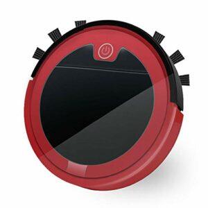 SETSCZY Robot Aspirateur Balai 2800pa 3 in 1 Auto Robotique Aspirateurs Extra pour Cheveux d'animaux pour Sol Dur et Tapis à Poils Bas,Rouge