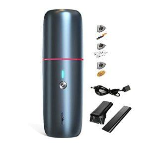 URJEKQ Aspirateur à Main 5000mA Aspirateur à Main sans filRéduction d'humidité/Bruit Charge Rapide avec Filtre Lavable pour la Maison la Voiture la Table Le Type Humide et Sec,Bleu