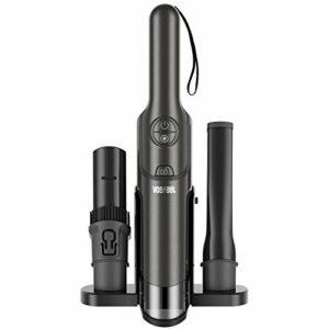 VOSFEEL J10 Aspirateur Voiture Aspirateur a Main sans Fil Puissant 15000pa 160W avec Hepa Filtre Lavable pour Maison Voiture (37cm)