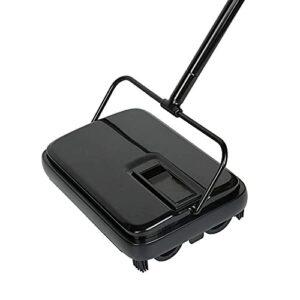 Aspirateur à main pour tapis et sols – Balai automatique pour la maison, le bureau, les tapis, la poussière, les chutes de papier – Brosse d'aspirateur – Couleur : noir – Taille : A