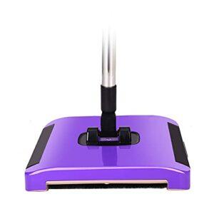 Aspirateur robot aspirateur domestique à pousser à la main sans perte de poils Brosse rotative Balai magique Aspirateur machine à aspirateur (couleur : violet, taille : A)