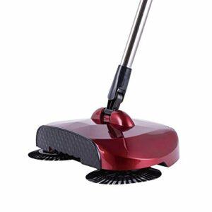 Aspirateur robot aspirateur en acier inoxydable à pousser à la main pour la maison, la cuisine, le tapis, la poussière, le balai magique télescopique (couleur : rose rouge, noir, taille : A)