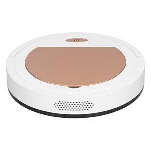 Aspirateur Robot de Balayage Intelligent Domestique, Aspirateur de Nettoyage Rechargeable USB pour le Bureau la Maison le Sol Dur les Poils D'animaux L'or Rose