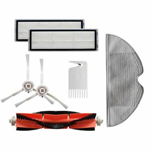 bobotron 7 accessoires de rechange – Compatible avec aspirateur robot 1C – Brosse principale.