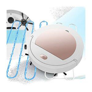 DSMGLRBGZ Aspirateur Robot Laveur, Bouton USB Balayage D'aspiration Réduction du Bruit, Détection Sensible, Couverture Complète pour 70-90 Mètres Carrés,Rose
