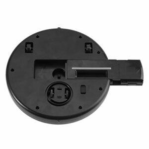 KUIDAMOS Nettoyant de Sol Domestique d'aspiration de Sol Petit aspirateur robotique USB ABS Mince pour la Maison(Black, Black)