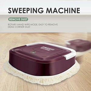 Robot aspirateur ménager intelligent pour nettoyage de sol – Robot électrique rechargeable (couleur : rouge)