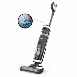 Tineco Floor One S3 Nettoyeur Intelligent des Sols Durs 3 en 1 Aspirateur Balai Sans Fil Sans Sac Puissant Avec l'Ecran LED Auto Nettoyage Wifi Connection (Version UK)