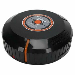 Weiyo Aspirateur Robot, Robot Nettoyeur de Sol à Balayage Automatique Domestique USB, Aspirateur balayeur Intelligent Design léger et Fin, Convient aux sols en marbre et Carreaux de céramique(Noir)