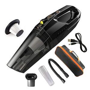 Aspirateur de poche aspirateur sans fil sous vide 4500Pa mini voiture de voiture pour les escaliers de bureau Tapis de compagnie pour animaux de compagnie