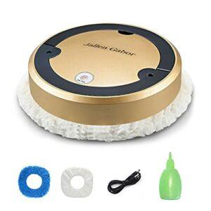 GeKLok Robot aspirateur Smart Floor 2 en 1 pour nettoyage de sol sec et humide – Rechargeable par USB – Pour tapis en bois dur, tapis, carrelage, poils d'animaux domestiques – Doré