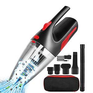 HSTG Aspirateur de Voiture, aspirateur sans Fil Portable, aspirateur de Poche 120W, aspirateur Humide et Sec, aspirateur de Poche avec lumière LED
