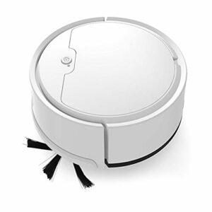 N A Aspirateur robotique à Forte Aspiration 1800Pa, aspirateur Robot, jusqu'à 100 Minutes d'autonomie, aspirateur Robot de Charge USB pour Les Poils d'animaux, Les Tapis, Les sols durs