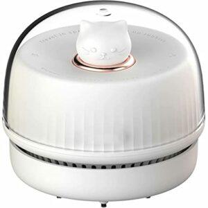 SJZD Aspirateur de Bureau Aspirateur Clavier Mini aspirateur à Main Aspirateur de Bureau Rechargeable sans Fil Haute Puissance Lumière d'ambiance (Blanc)