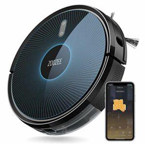 ZOOZEE Z50 Robot aspirateur et balai 2-en-1 Batterie LG 5200mAh Aspiration 3000Pa MAX Fonctionne avec Alexa et Siri Chargement automatique