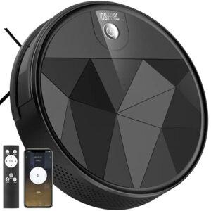 Aspirateur Robot Silencieux 2200Pa WiFi/App/Alexa Idéal pour Poil Animaux Tapis VOSFEEL