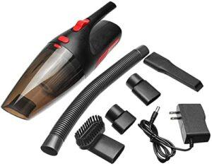 Petit aspirateur à main Aspirateur sans fil de Aspirateur de 5000pa super aspiration Aspirateur portatif sans fil rechargeable humide / sec à double usage pour la maison / voiture Aspirateur à main
