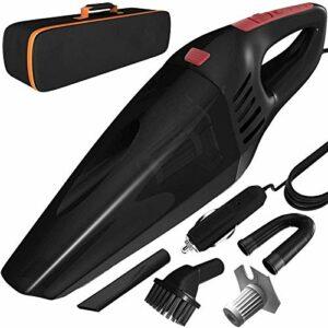 Petit aspirateur à main Aspirateur sans fil Vacuirateur Vacuum 120W Puissance haute puissance Portable Portable Vacugeeur sans fil de poche avec LED Lumière Forte aspiration Sécher humide Usage à sec