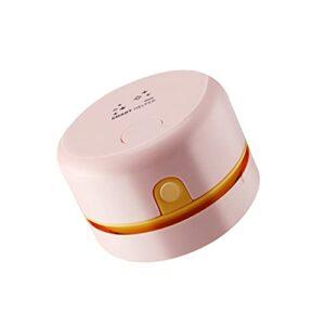 QERMULA aspirateur à Main électrique Petit Appareil de Nettoyage de Bureau sans Fil Rechargeable USB pour Appareil ménager Rose